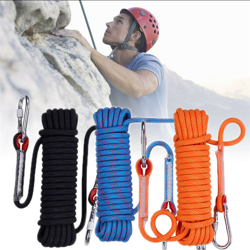 20m*12mm Rock Climbing Rope Outdoor Safety Mountain Rescue Escape Auxiliary Rope