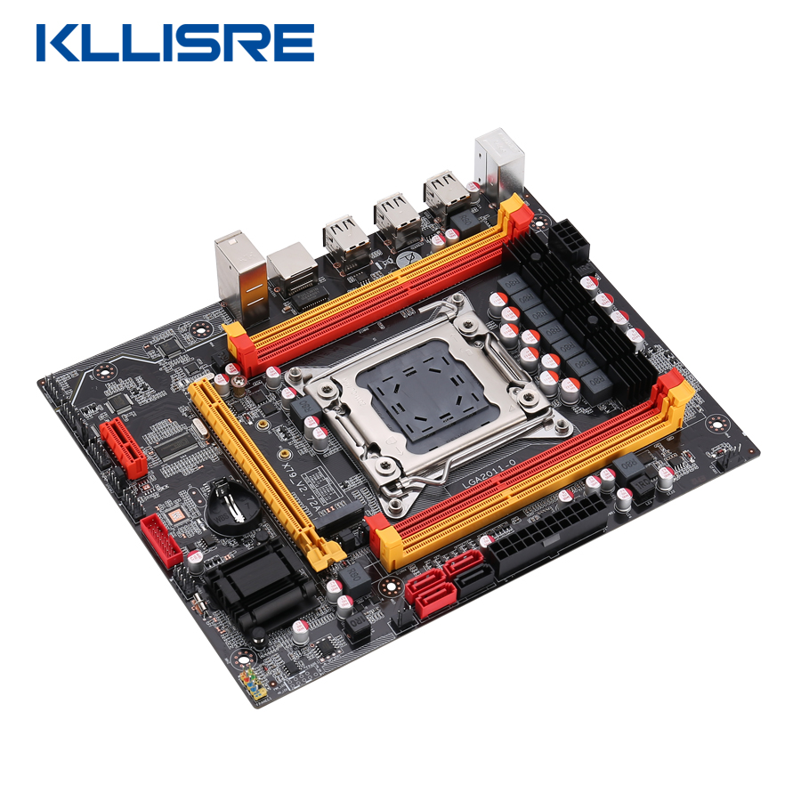 Kllisre X79 chip motherboard LGA2011 ATX USB2.0 PCI-E NVME M.2 SSD support REG ECC memory and Xeon E5 processor 3