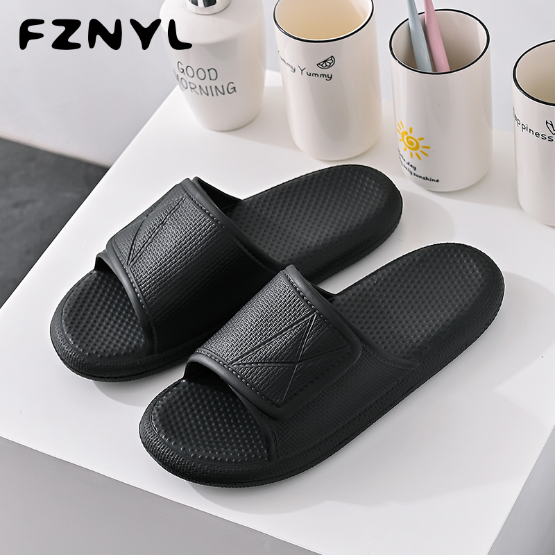 FZNYL 2020 New Arrival Men's Home Slippers Thicken Foot Massage Bath Slipper Women Mens Non-slip Indoor House Sandal Shoes 35 44