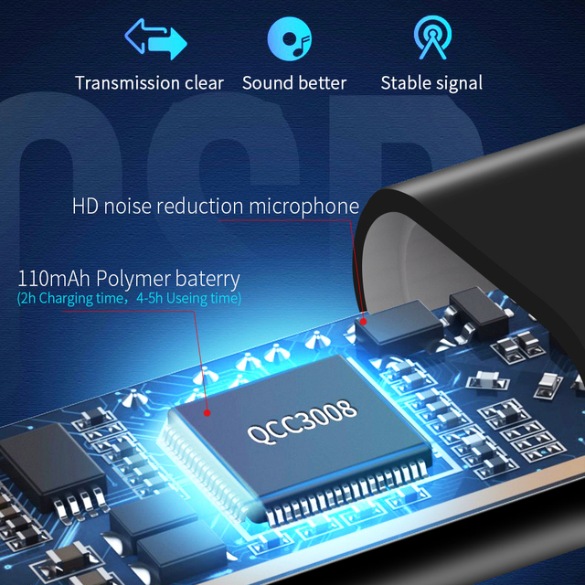 Essager Wireless Adapter Bluetooth 5.0 Receiver For 3.5mm Jack Earphone Bluetooth Aux Audio Music Transmitter For Headphone 4