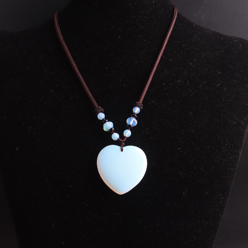 3pcs Hand Knotter String stone necklace quartz Natural Stone Beads Energy Women Necklace Women jewelry choker heart wholesale