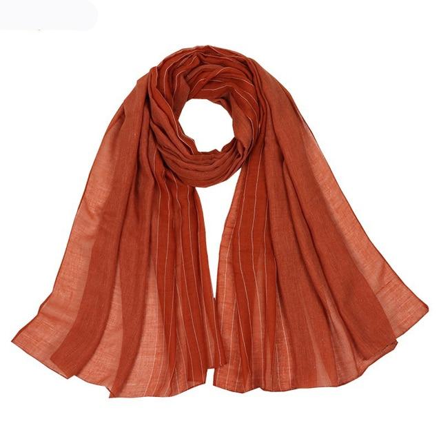Autumn Winter Good Quality Scarves Women Cotton Scarf Shawls and Wrap Hijab Scarf  Ladies Warm Long Shawl Muslim Head Hijab