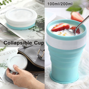 Image 1 - Portable Silicone Telescopic Drinking Collapsible Cup Folding Cups for Travelling