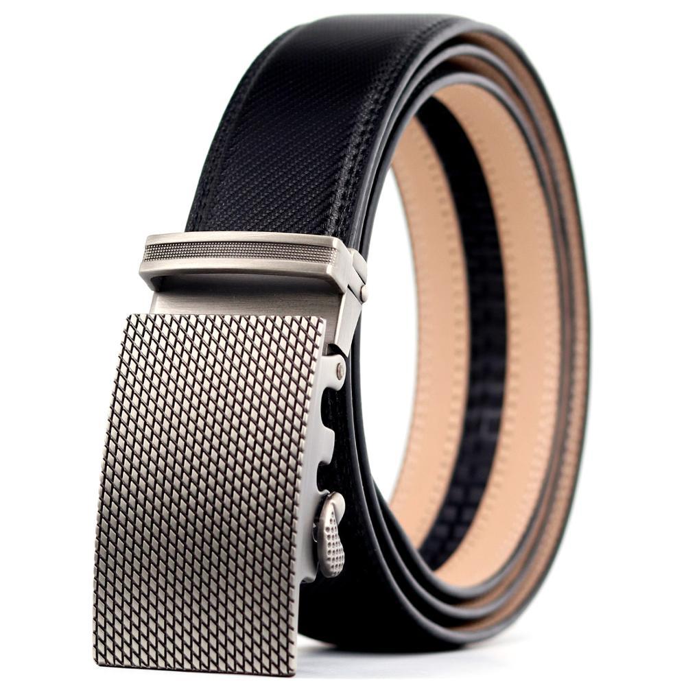 "38/"" Genuine Leather Belt Men/'s belt Dress /& Casual New Automatic lock Buckle 5"