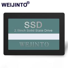 WEIJINTO SSD 120GB 240GB 60GB 128GB 256GB 512GB 480GB 960GB 360GB 2 5 cala 32GB 16GB 8GB wewnętrzny półprzewodnikowy komputer stacjonarny tanie tanio AHCI SATAIII CN (pochodzenie) 2244 2256 2258 2259 YS9082 2 5 SATA III Pulpit Laptop Serwer WS-SSD 8GB -1TB Black SSD 2 5inch 100 2x69 8x7 00 9mm