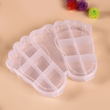 Small ankle appearance lattice pp plastic transparent storage box cartoon hairpin thick