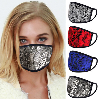 #45 Fashion Mouth Masks Lace Dual-layer Breathable Sunscreen Anti-dust Mask Face Cover Mask Clothing Accessories For Outdoor