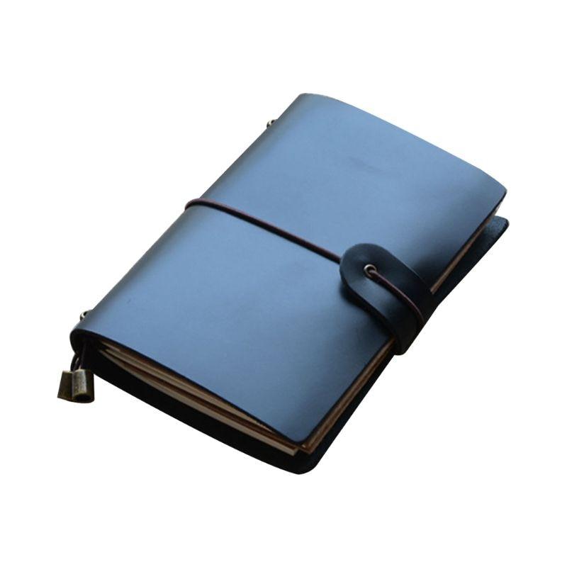 Винтажный кожаный журнал путешествий; Записная книжка, дневник с тиснением, цветочный блокнот, блокнот для рисования, бизнес-письма - Цвет: D