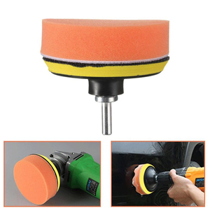 "Image 4 - 7Pcs Glass/Car Polishing 3"" Polishing Head Wave Sponge Polishing Pad Wheel Buffing Pad Set with M10 Drill Adaptor Electric Drill"
