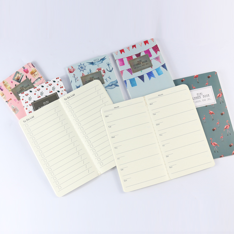 2020 Cute Mini Cartoon School Weekly Planner/to Do List Notebook Stationery,kawaii Student A7 Person Planner Organizer Agenda