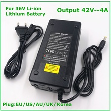 42V 4A Smart Battery Charger for 10Series 36V 37V Li-ion e-bike Electric Bicycle Battery Charger DC 5.5mm*2.1mm fast charging