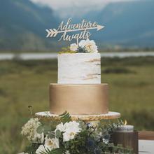 Приключения ждёт свадебный торт Топпер, приключения ждёт, свадебный торт Топпер, Свадебный декор, Свадебный Торт Топперы, торт Топпер мы