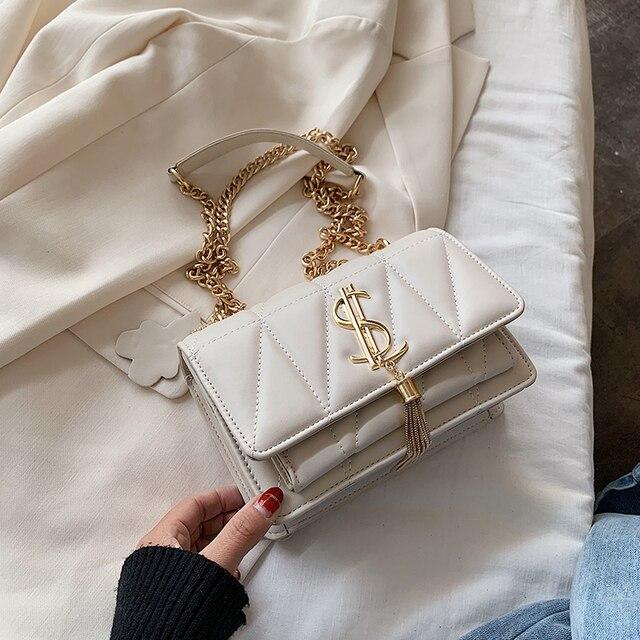 حقيبة يد فاخرة العلامة التجارية الشهيرة حقائب النساء مصمم سيدة الكلاسيكية منقوشة الكتف حقائب كروسبودي جلد النساء رسول حقائب اليد