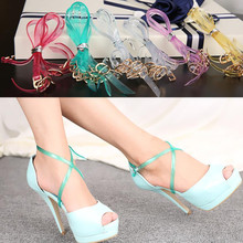 Women Fashion Shoes Belt Ankle Shoe Accessory, Invisible Around the ankles Shoeslace,Fit for High Heels Sandals Flats Shoes