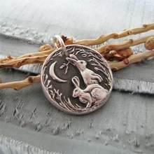 Lebres de coelho pingente colares para mulheres colar de noivado de casamento moda festa de jóias presentes colar de afirmação