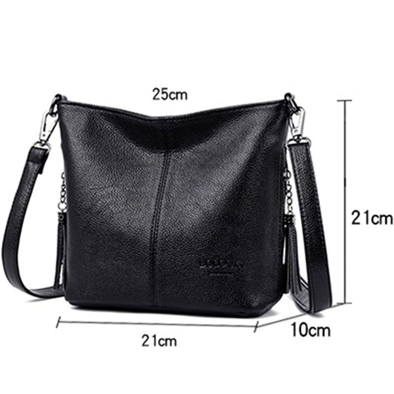 Image 3 - Small Crossbody Bags For Women Soft Leather Tassel Luxury Handbags Women Bags Designer Female Shoulder Messenger Bag Sac A MainShoulder Bags   -