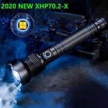 Led 손전등 250000 루멘 Xhp70.2 가장 강력한 손전등 26650 Usb 토치 Xhp70 Xhp50 Led 랜턴 18650 사냥 손 빛