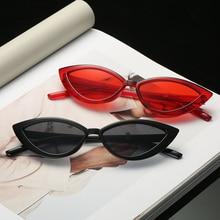 New Vintage Red Cat eye Sunglasses Women Fashion Brand Designer Mirror Small Frame Sun Glasses For Female Shades UV400