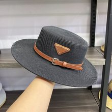 2021 Summer Straw Hat Fashion Casual Panama Beach Wide Brim Breathable Sun Panama Hats For Women Elegant Lady Hats