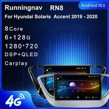 4G LTE  Android 10.1 For HYUNDAI Solaris Verna 2017 2018 2019   Multimedia Stereo Car DVD Player Navigation GPS Radio