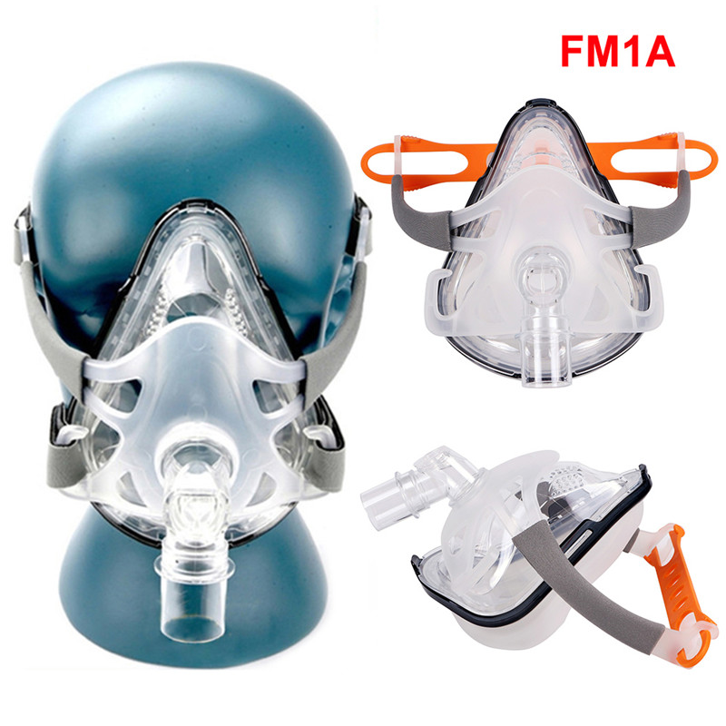 Full Face CPAP Mask Auto with Adjustable Headgear Strap Clip for Sleep Apnea Patient 30