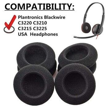 5 pares de reemplazo de espuma almohadillas para los oídos almohadillas para reparar piezas para Plantronics Blackwire C3220 C3210 C3215 C3225 USA auriculares