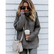2020 hiver pull femmes à manches longues chaud tricot pull grande taille femme mode col roulé chaud épaissir chandails Feamle pull