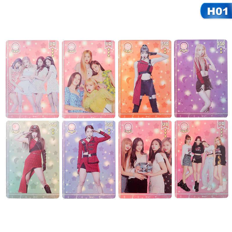 8/10 قطعة/المجموعة Blackpink إكسو Photocard Kpop شفافة بطاقة امرأة مجموعة ستار DIY ورقة صورة بطاقة