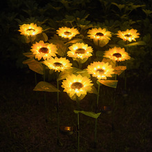 Led Lamp Sunflower Solar Light Outdoor Waterproof Decoration Simulation Plug-In Light Garden Lawn Light Underground Lamp