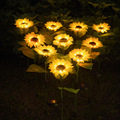 Led Sunflower Solar Yard Light Outdoor Waterproof Garden Decoration Lamp For Pathway Street Lighting Patio Path Decoration