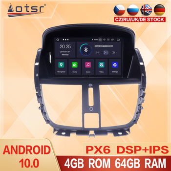 Android 10.0 Car Radio Stereo WIFI GPS Navigation Multimedia Player Head Unit For Peugeot 207 207CC 2007-2013 Autoradio Screen image