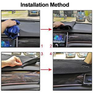 Image 5 - 포드 머스탱 6 세대 2015 2016 2017 2018 2019  On LHD RHD 2 레이어 자동차 대시 보드 커버 카펫 케이프 러그 패드 Sun Shade Protect