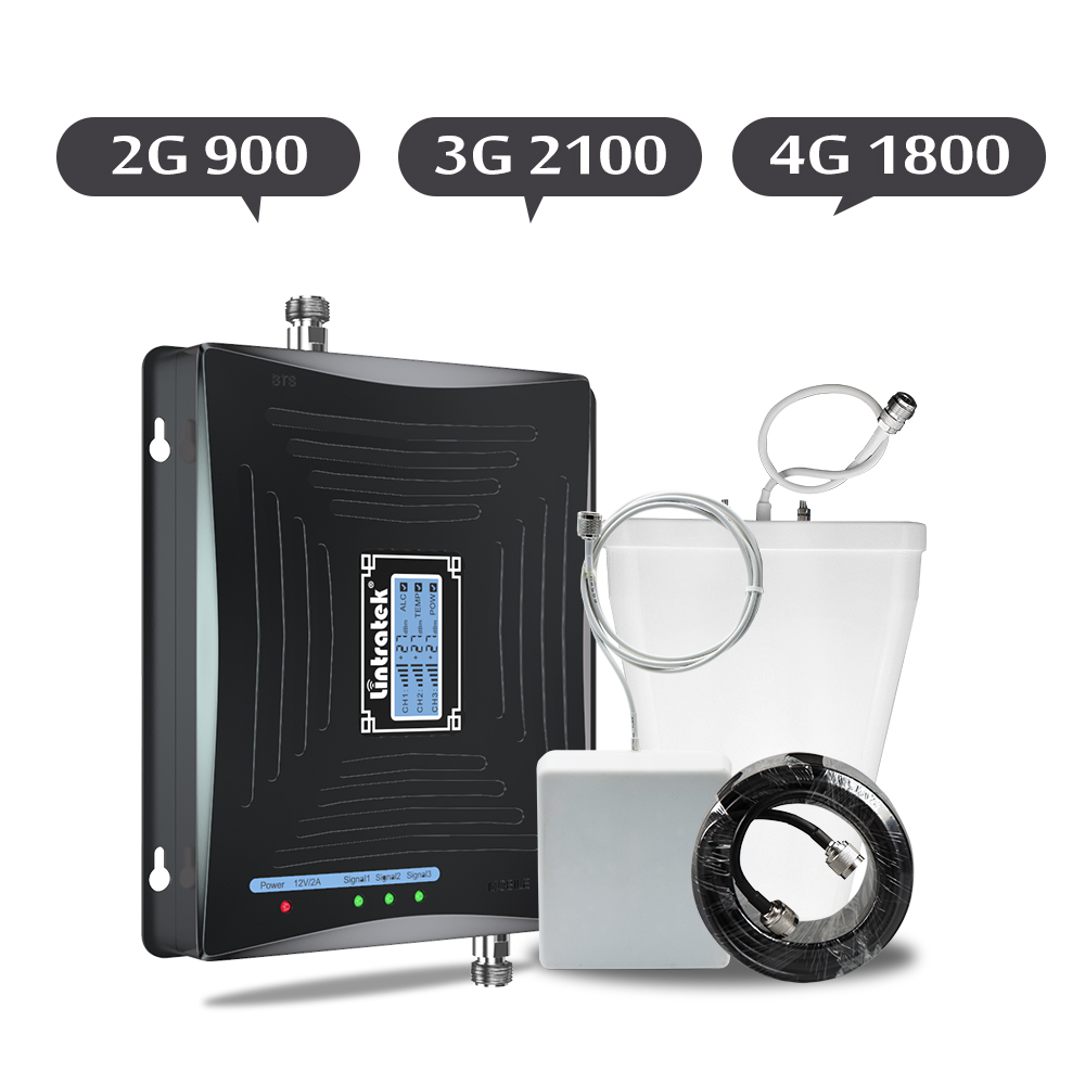 Lintratek 2G 3G 4G Signal Booster 900/1800/2100 GSM WCDMA DCS Cell Phone Celular Signal Repeater Lte 4g LCD ALC Amplifier Set 6