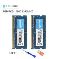 Latumab 8GB 16GB DDR3 1333mhz PC3 10600 Laptop Memory So Dimm Memory Ram 204 Pins 1.5V Notebook PC Memory RAM Memory Module
