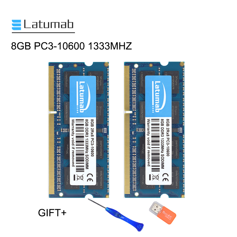Latumab 8GB 16GB <font><b>DDR3</b></font> 1333mhz <font><b>PC3</b></font> <font><b>10600</b></font> Laptop Memory So-Dimm Memory Ram 204 Pins 1.5V Notebook PC Memory RAM Memory Module image