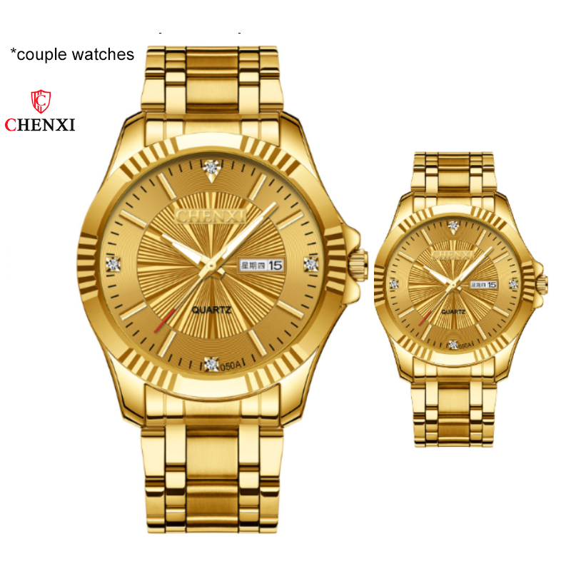 CHENXI Couple Watches 2019 New Fashion  Lover's Watches Simple Couple Watch Gifts  For Men Women Clock Pareja Pair Watch