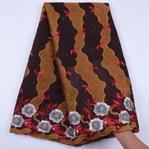 Image 4 - Tanie bawełniany materiał szwajcarski koronkowy woal w szwajcarii z kamieni afryki tkanina koronkowa typu dry Lace wysokiej wysokiej jakości nigeryjski koronki FabricA1692