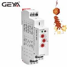 GEYA GRT8-M Multi-Function Din Rail Automatic Timer Relay AC DC 12V 24V 220V SPDT DPDT Multifunction Time Relay authentic original stp 3d fotek time relay multi function digital timer