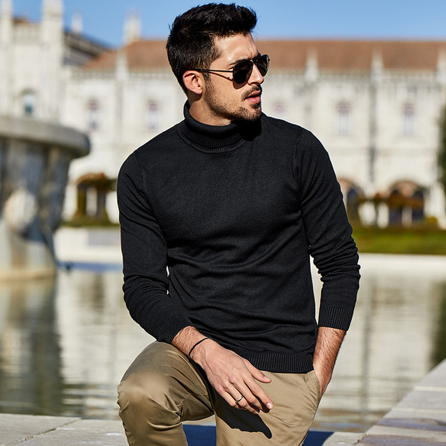 New Spring Plain Casual Jumper For Male Brand Knitted Korean Style 2