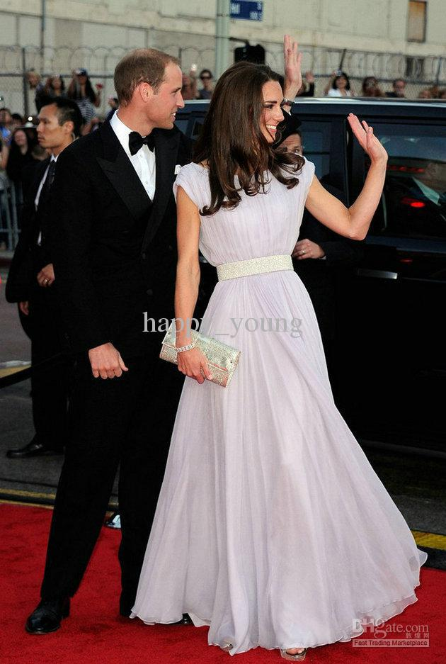 Free Shipping 2018 Maxi Vestidos Formales Floor Length Short Sleeve Dress Of Kate Middleton Long Sexy Gowns Bridesmaid Dresses