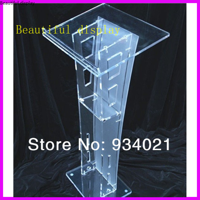 Slanted Top Modern Acrylic Lectern Podium Pulpit Lectern To Read In The Bed