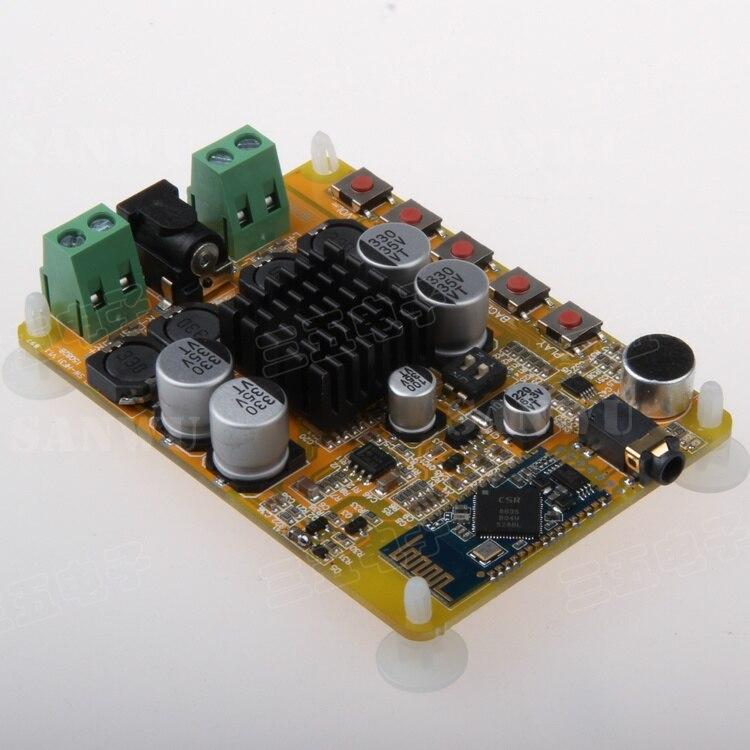 TDA7492 Bluetooth 4 усилитель мощности плата 2*50 Вт цифровой усилитель мощности двухканальный микрофон CSR8635 Bluetooth|Усилители мощности|   | АлиЭкспресс