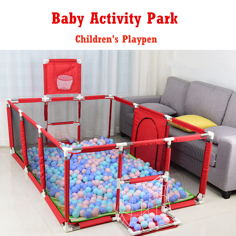 Baby Playpen For Children Pool Balls For Newborn Baby Fence Playpen For Baby Oceanball Pool Children Playpen Kids Safety Barrier