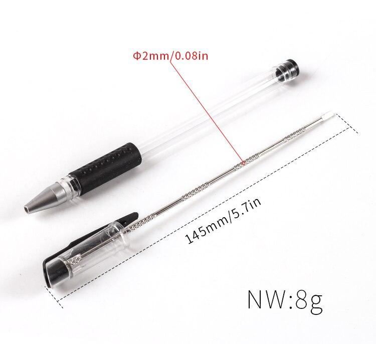 New 1pcs Cigar Gadgets Pen Shape Metal Cigar Piercer Cigar Punch Cutter Holder Cigar Stick Pipe Tool Smoking Accessories  T9263