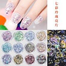 1pc prego glitter pó mix lantejoulas folha diamante colorido laser holográfico prego floco maquiagem brilho poeira arte do prego decoração