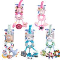 1 pièces bébé jouets en peluche doux mignon dessin animé animal âne bétail hérisson chien rhinocéros éducatif voiture lit cloche berceau musical nouveau-né bébé hochets jouets
