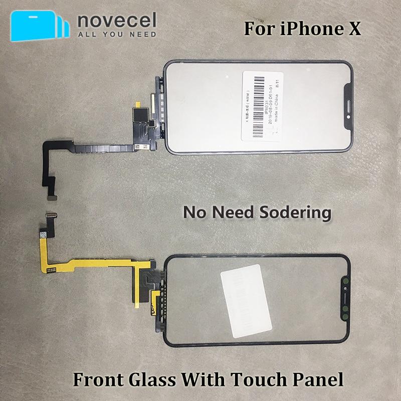 Novecel Черный сенсорный экран с расширенным сенсорным гибким кабелем без необходимости пайки для iPhone X Xsmax 11pro Max Запасные части Сенсорные панели (тачскрин)      АлиЭкспресс