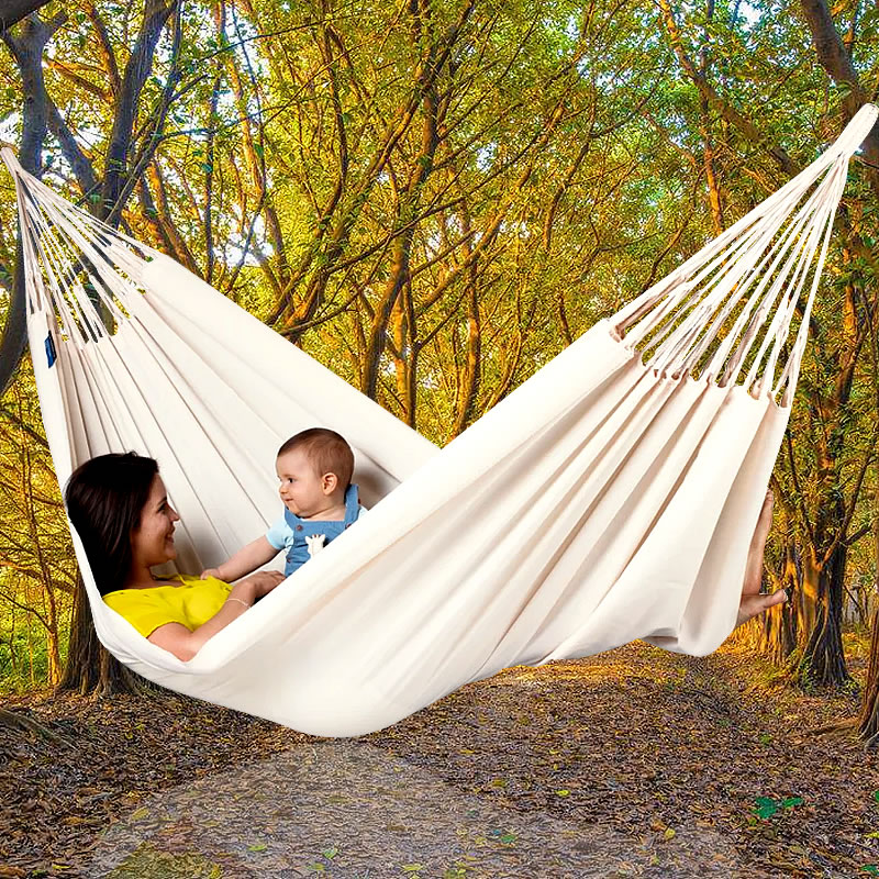 Chair Swing Hanging Double-Hammock-Chair Outdoor Garden Canvas