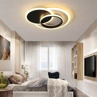 Moderne Led deckenleuchten Für wohnzimmer Schlafzimmer 110V 220V glanz Avize Decke lampe leuchten Acryl schlafzimmer lampe-in Deckenleuchten aus Licht & Beleuchtung bei