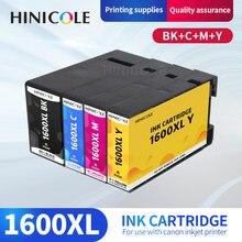 HINICOLE совместимый картридж с чернилами PGI-1600 BK C M Y PGI1600 PGI-1600XL для Canon MAXIFY MB2060 MB2360 MB2760 MB2160 принтер